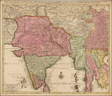 India, Southeast Asia and Other Islands Map By Jan Barend Elwe