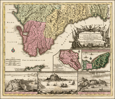Spain Map By Matthaus Seutter