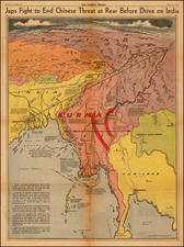 China, India and Southeast Asia Map By Charles H. Owens / Los Angeles Times