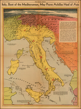 Switzerland, Austria, Balkans and Italy Map By Charles H. Owens / Los Angeles Times