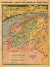 Polar Maps, Germany, Russia, Baltic Countries and Scandinavia Map By Charles H. Owens / Los Angeles Times