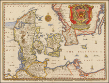 Scandinavia and Denmark Map By Richard Blome