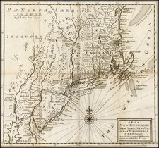 New England and Mid-Atlantic Map By Herman Moll