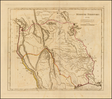 Texas, Plains, Missouri, Southwest, Rocky Mountains, Pacific Northwest and California Map By Mathew Carey