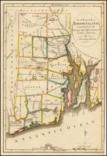 Rhode Island Map By Mathew Carey
