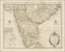 India Map By Johannes Covens  &  Pieter Mortier  &  Guillaume De L'Isle