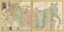 Russia and Russia in Asia Map By Covens & Mortier