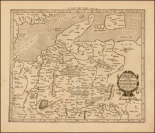 Netherlands, Germany and Denmark Map By  Gerard Mercator