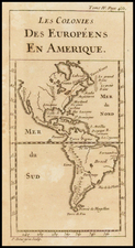 South America and America Map By Pierre Bourgoin