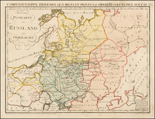 Poland, Russia, Ukraine and Baltic Countries Map By Franz Johann Joseph von Reilly