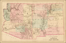 Southwest and New Mexico Map By Samuel Augustus Mitchell Jr.