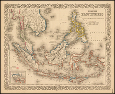 Southeast Asia, Philippines and Other Pacific Islands Map By G.W.  & C.B. Colton