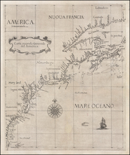 United States, New England, Mid-Atlantic, Southeast and Canada Map By Robert Dudley