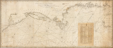 United States, New England, Mid-Atlantic and Southeast Map By John Hamilton Moore