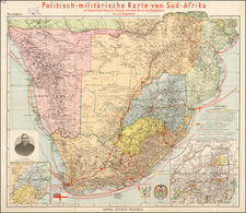 South Africa Map By Justus Perthes - Paul Langhans