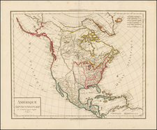 North America Map By Jean Baptiste Poirson