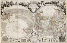 World and World Map By Charles Price / George Willdey