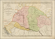 Hungary, Romania, Balkans, Croatia & Slovenia and Serbia Map By Franz Johann Joseph von Reilly