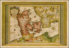 Denmark Map By Pieter van der Aa