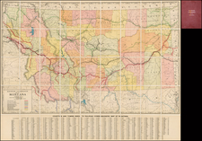 Plains, Rocky Mountains and Montana Map By Montana Railroad Commission
