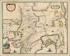 India and Central Asia & Caucasus Map By Willem Janszoon Blaeu