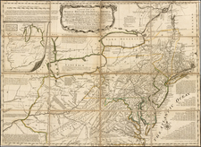United States, Mid-Atlantic and Midwest Map By Thomas Jefferys / Lewis Evans