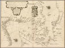 Scandinavia, Denmark and Germany Map By Matheus Merian