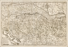 Balkans, Croatia & Slovenia, Bosnia & Herzegovina and Serbia Map By Etienne Briffaut