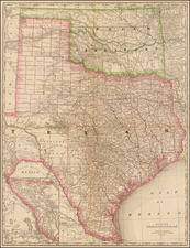Texas and Plains Map By Rand McNally & Company