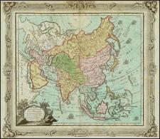 Asia Map By Louis Brion de la Tour