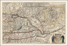 Hungary Map By Jacob Sandrart