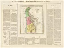 Delaware Map By Jean Alexandre Buchon