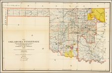 Plains, Oklahoma & Indian Territory and Southwest Map By General Land Office