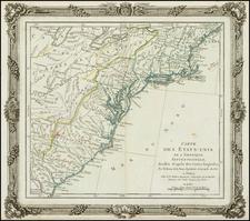 United States Map By Louis Brion de la Tour