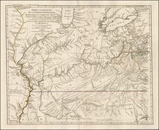 Mid-Atlantic, South, Southeast and Midwest Map By Georges Louis Le Rouge / Thomas Hutchins