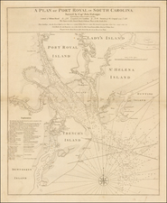 Southeast and South Carolina Map By Thomas Jefferys  &  William Faden