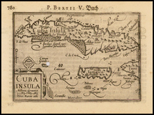 Caribbean and Cuba Map By Barent Langenes