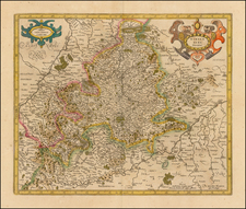 Germany Map By Henricus Hondius -  Gerard Mercator