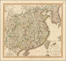 China and Korea Map By John Cary
