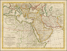 Turkey, Middle East, Turkey & Asia Minor and North Africa Map By Thomas Bowen