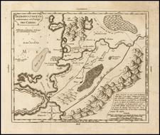 Curiosities Map By Gilles Robert de Vaugondy