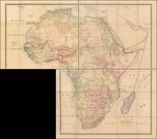 Africa and Africa Map By Edward Stanford