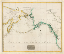 Alaska, Canada, Pacific and Russia in Asia Map By John Thomson