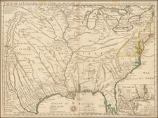 South, Southeast, Texas, Midwest, Plains, Southwest and Rocky Mountains Map By Guillaume De L'Isle / Philippe Buache
