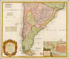 South America Map By Johann Baptist Homann