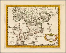 Scandinavia, Sweden and Denmark Map By Philip Briet