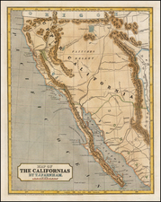 Southwest, Rocky Mountains, Baja California and California Map By Sidney Morse  &  Samuel Breese