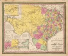 Texas Map By Thomas, Cowperthwait & Co.