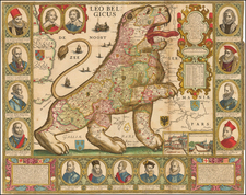 Netherlands Map By Claes Janszoon Visscher