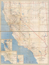 California Map By U.S. Post Office Department